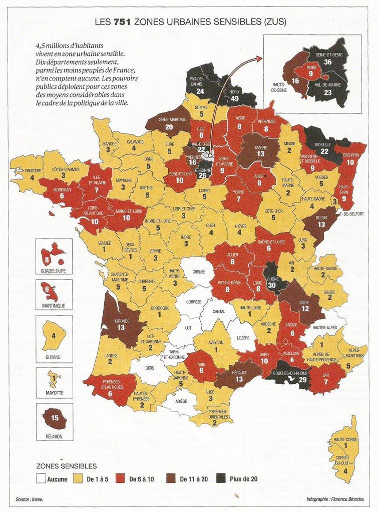Les  Villes Les Plus Sensibles De France