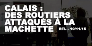 Calais - les migrants attaquent