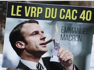EMMANUEL MACRON, VRP DU CAC 40ET OVNI DE L'ANTI-FRANCE(L'Imprécateur)