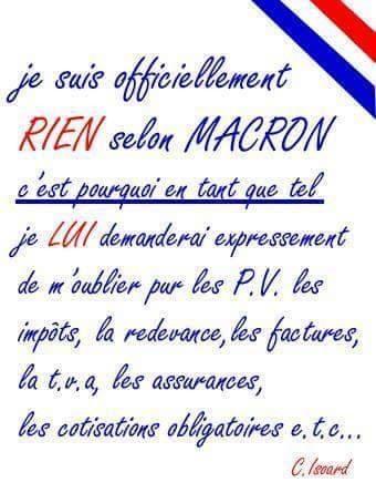 «CES GENS QUI NE SONT RIEN» dixit Macron.